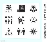 simple set of 9 icons related... | Shutterstock . vector #1195141225