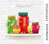 cozy collection delicious and... | Shutterstock .eps vector #1195145122
