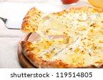 Pizza Quattro Fromaggi On A...