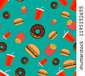 illustration seamless pattern... | Shutterstock .eps vector #1195152655