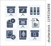 simple set of 9 icons related... | Shutterstock . vector #1195156858