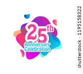 25 th logo anniversary and icon ... | Shutterstock .eps vector #1195158322