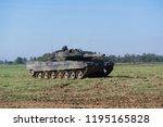 german heavy battle tank during ... | Shutterstock . vector #1195165828