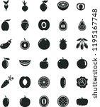 solid black flat icon set beet... | Shutterstock .eps vector #1195167748