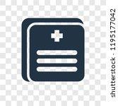 medical records vector icon...   Shutterstock .eps vector #1195177042