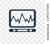 cardiogram vector icon isolated ... | Shutterstock .eps vector #1195177045