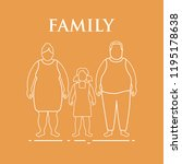 family. mom  dad and daughter.... | Shutterstock .eps vector #1195178638