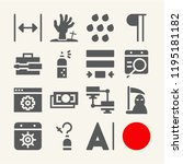 set of 15 concept filled icons... | Shutterstock . vector #1195181182