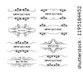 set of vector vintage frames on ... | Shutterstock .eps vector #1195184452