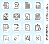 simple collection of document... | Shutterstock . vector #1195186072