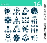 simple set of 16 icons related... | Shutterstock . vector #1195186405