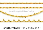 festive decor garland.... | Shutterstock .eps vector #1195187515