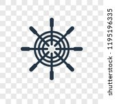 boat steering wheel vector icon ...   Shutterstock .eps vector #1195196335