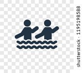 aqua gym vector icon isolated... | Shutterstock .eps vector #1195198588
