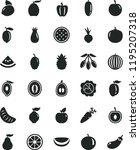 solid black flat icon set beet... | Shutterstock .eps vector #1195207318