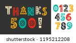 thanks 500 followers  likes... | Shutterstock .eps vector #1195212208
