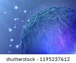 stars space planet depth space ... | Shutterstock .eps vector #1195237612