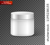 blank cosmetic container for... | Shutterstock .eps vector #1195238155