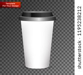 disposable coffee cup isolated | Shutterstock .eps vector #1195238212