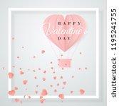 happy valentines day retro... | Shutterstock .eps vector #1195241755