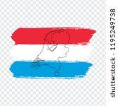 flag netherlands from brush... | Shutterstock .eps vector #1195249738