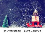 christmas red sledges carry...   Shutterstock . vector #1195250995