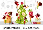 small people characters... | Shutterstock .eps vector #1195254028