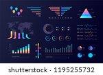 graphic data infographic... | Shutterstock .eps vector #1195255732
