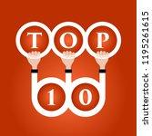 top ten illustration. vector...   Shutterstock .eps vector #1195261615