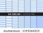 blue striped shirt seamless... | Shutterstock .eps vector #1195264315