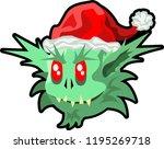 Green Ogre In Christmas Cute...