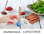 florist at work  how to make... | Shutterstock . vector #1195273555