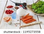 florist at work  how to make... | Shutterstock . vector #1195273558