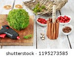 florist at work  how to make... | Shutterstock . vector #1195273585
