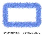 shaggy abstract frame on white... | Shutterstock .eps vector #1195276072