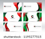 national flag color of united... | Shutterstock .eps vector #1195277515
