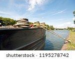 inland waterway vessel on...   Shutterstock . vector #1195278742