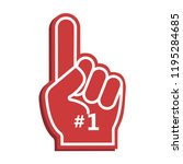 icon fan logo hand with finger... | Shutterstock .eps vector #1195284685