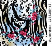leopard pattern  leopard  print ...   Shutterstock . vector #1195285465
