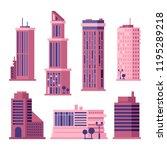 illustration of modern big... | Shutterstock .eps vector #1195289218