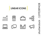 commerce icons set with... | Shutterstock .eps vector #1195289428