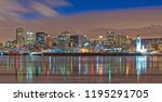 montreal  skyline by night in... | Shutterstock . vector #1195291705