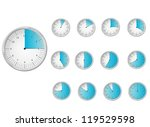 unique icons of hours | Shutterstock .eps vector #119529598