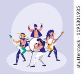 band of rock avatar character | Shutterstock .eps vector #1195301935