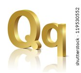 vector letter q of golden... | Shutterstock .eps vector #119530552