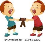 illustration of twin boys... | Shutterstock .eps vector #119531302