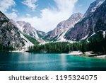 beautiful view of lago di... | Shutterstock . vector #1195324075