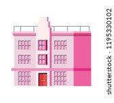big building architecture...   Shutterstock .eps vector #1195330102