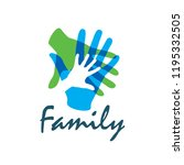 family icon in the form of... | Shutterstock .eps vector #1195332505