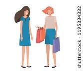 young women avatar character | Shutterstock .eps vector #1195334332